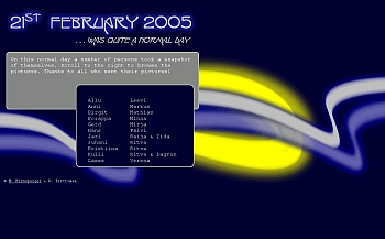 Website about Art Project '21st of February 2005'