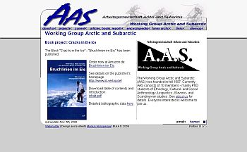 Website of the Working Group Arctic and Subarctic (2002)